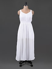 Solid White Sleeveless Maxi Dress - Oxolloxo