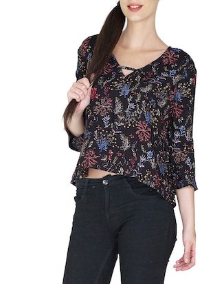 black rayon  top