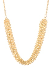 Golden Metal Chain Necklace - By