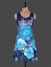 Round Neck Sleeveless Floral Print Cotton Dress - Rain And Rainbow