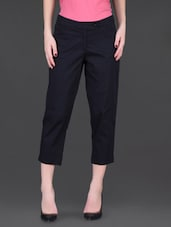 Black Cotton Capri Pants - LABEL Ritu Kumar