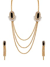 Gold Brass Necklaces And Earring - By