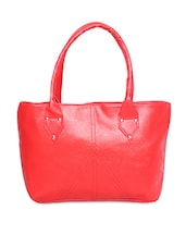 Solid Red Leatherette Handbag - Not Bad