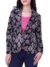 Full Sleeve Black Printed Jacket - Tong