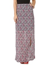 Multicolor Floral Printed Side Slit Maxi Dress - Tong