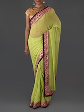 Embroidered georgette saree available at Limeroad for Rs.1949