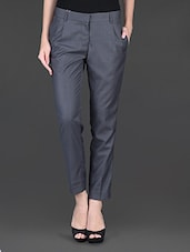Dark Grey Double Front Pleat Formal Trouser - Fast N Fashion