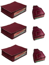 set of 6 maroon polyester utility bag -  online shopping for Utility bags