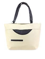 Cut Pocket Patch Leatherette Handbag - Austin Klein