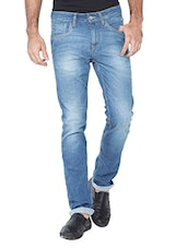 light blue cotton jeans -  online shopping for Jeans