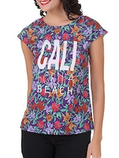 Floral Print Poly Crepe Top - Silk Weavers