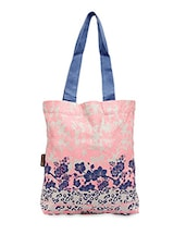 Floral Printed Canvas Tote Bag - Kanvas Katha