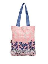 Floral Printed Canvas Tote Bag - Kanvas Katha
