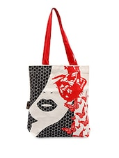 Passionate Face With Butterfly Printed Tote Bag - Kanvas Katha