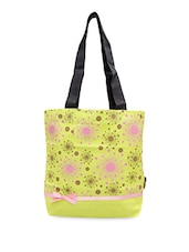 Multi Printed Green Canvas Tote Bag - Kanvas Katha