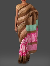 Stripped Cotton Silk Saree - Nanda Silk Mills