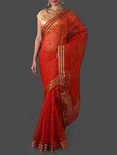 Red Art Silk Saree - Janasya