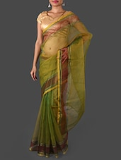 Green Art Silk Saree - Janasya