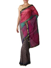Printed Multicolor Art Silk Saree - By