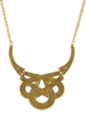 Gold Metallic Spiral Necklace With Crab Claw Closure - Femnmas