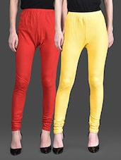 Red And Yellow Leggings (Set Of 2) - By