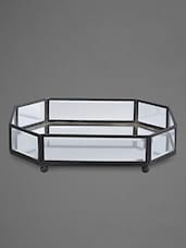 Octagonal Mirror Tray With Nickel Finish - By