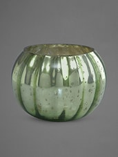 Potpourri Mottle Finish Green Glass Votive - By