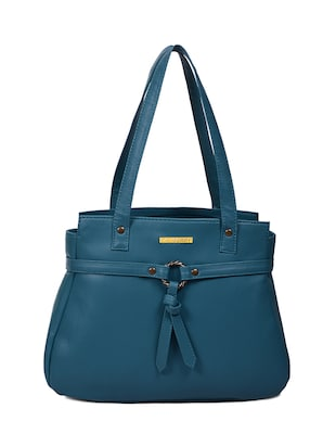 blue leatherette (pu handbag