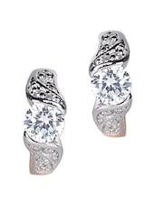 Silver Gold Stone Metallic Earrings - By - 1148231