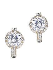 Silver Gold Stone Metallic Earrings - By - 1148259