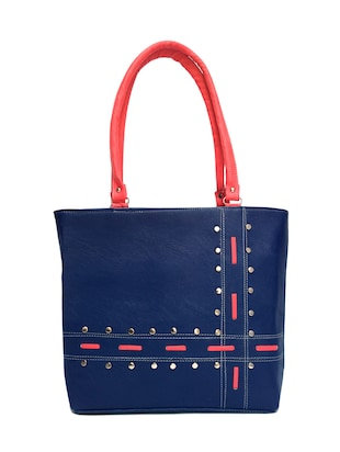 blue leatherette handbag -  online shopping for handbags