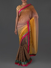 Ombre embroidered georgette saree available at Limeroad for Rs.1990