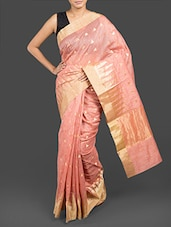 Pink Cotton Banarasi Saree - By
