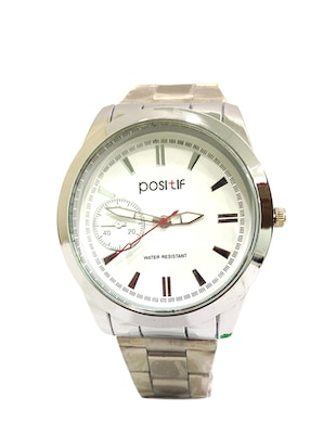 white stainless steel analog watch -  online shopping for Analog Watches