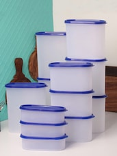 Tallboy Mahaware Space Saver White & Blue Assorted Jar Set of 12 -  online shopping for Containers