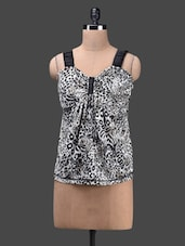 Animal Print Poly Viscose Knit Top - Glam And Luxe