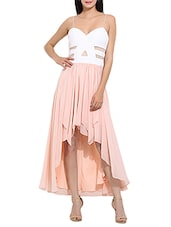 Dress Parade | Pink polyester asymmetric dress By Limeroad @ Rs.1,499