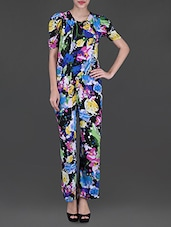 Printed Short Sleeves Jumpsuit - Glam And Luxe