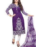 cotton purple dress material -  online shopping for Dress Material