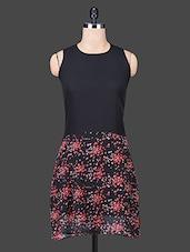 Black Sleeveless Printed Dress - Trend Arrest