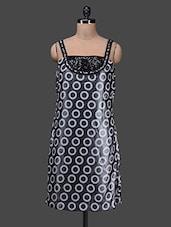 Black Sleeveless Round Neck Polyester Dress - SPECIES