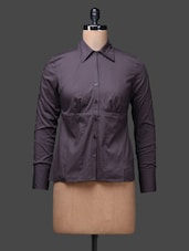 Black Sleeveless Cotton Shirt Top - SPECIES