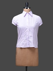 Pink Plain Cotton Shirt Top - SPECIES