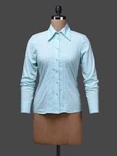 Blue Floral Print Cotton Party Shirt - SPECIES