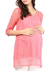 Pink Lace Maternity Top - Mine4Nine