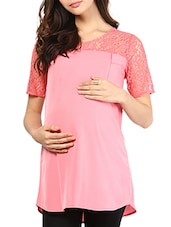 Pink Cotton Maternity Top - Mine4Nine