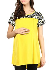 Yellow Polycrepe Maternity Top - Mine4Nine