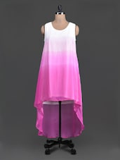 Sleeveless Pink Ombre Asymmetric Dress - Label VR
