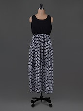 Black Printed Georgette Maxi Dress - G&M Collections