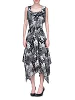 Printed asymmetrical georgette dress -  online shopping for Dresses